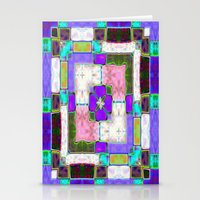 Glass Block Abstract Stationery Cards