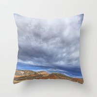 Red Mountain Open Space Throw Pillow