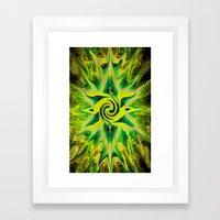 RASTA STAR Framed Art Print