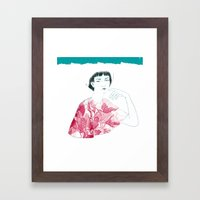 Lina Framed Art Print