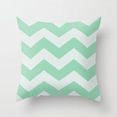 Wintermint Chevron Throw Pillow