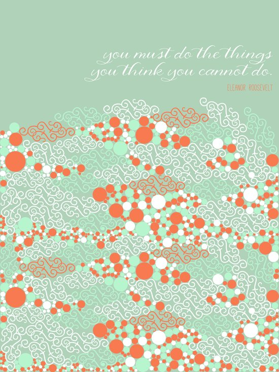 You must do the things Art Print