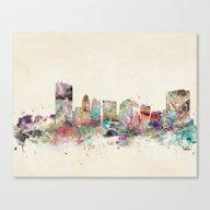 Canvas Print featuring Toledo Ohio Skyline by Bri.buckley