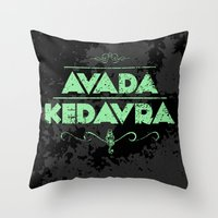 Harry Potter Curses: Avada Kedavra Throw Pillow