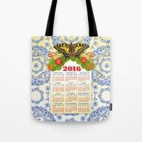 2016 Decorative Calendar Tote Bag