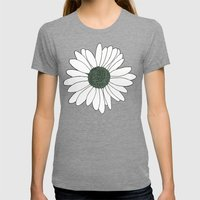 Daisy Mint  Womens Fitted Tee Tri-Grey SMALL