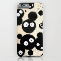 iPhone Cases featuring Cute Susuwatari Infestation by Puddingshades