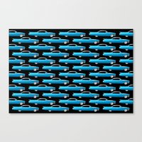 60's well finned Caddy in blue - pattern version Canvas Print