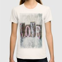LOVE Womens Fitted Tee Natural SMALL