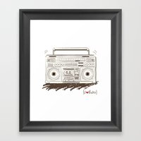I {❤} RADIO Framed Art Print