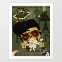 Elvis Zombie Art Print