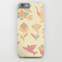 Cross Stitch Tea Party iPhone 6 Slim Case