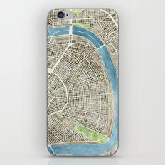 New Orleans City Map iPhone & iPod Skin