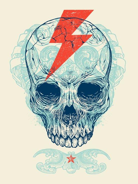 Skull Bolt Canvas Print