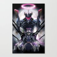 Kaworu Nagisa the Sixth. Rebuild of Evangelion 3.0 Digital Painting. Canvas Print