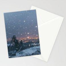City Snow Stationery Cards
