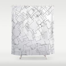 Plan abstract Shower Curtain