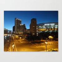 Petco Park At Night Canvas Print