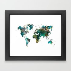 Map of the World tree Framed Art Print