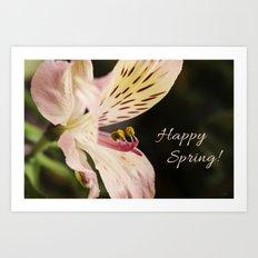 Happy Spring! 2 Art Print