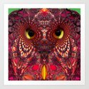 A Faceted Owl Art Print