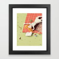 Picknick with your thoughts Framed Art Print