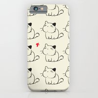 cats iPhone & iPod Cases featuring cats by ururuty