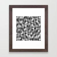 Black And White Harlequi… Framed Art Print