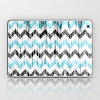 Grunge Chevron Black/whi… Laptop & iPad Skin