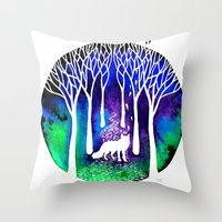 The Night Fox Throw Pillow