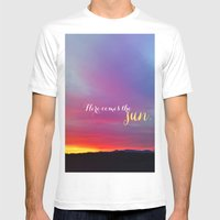 Here comes the sun Mens Fitted Tee White SMALL