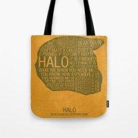 Halo Typography Tote Bag