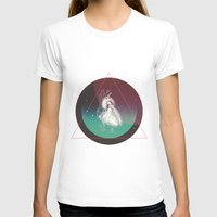 COSMIC LOVE Womens Fitted Tee White SMALL