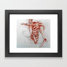Ribcage Framed Art Print