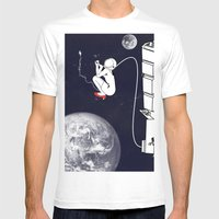Pee on the space! Mens Fitted Tee White SMALL