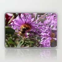 Busy Bee on a Violet Flower Laptop & iPad Skin