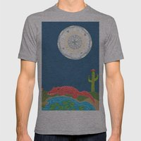 GatorMoon Mens Fitted Tee Athletic Grey SMALL