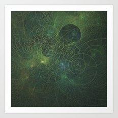 Green Fractal Art Print