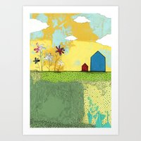 The Blue House Art Print