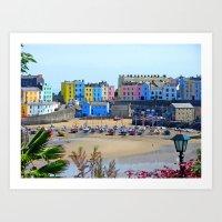 Tenby Harbour.Colour.Ref… Art Print