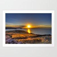 A Titicaca Sunset Art Print