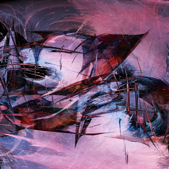 Wounded Sharks Art Print