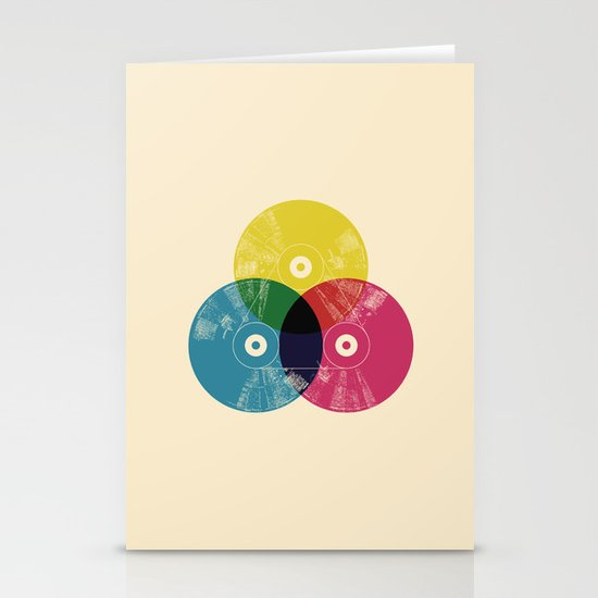 Music is the colors of life Stationery Card