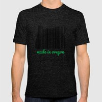 Made in Oregon Mens Fitted Tee Tri-Black SMALL