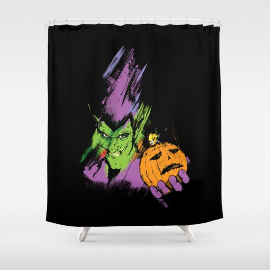 The Green Goblin Shower Curtain