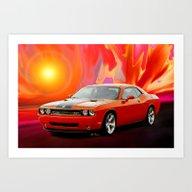 Challenger SRT Art Print