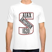 AJAX AMSTERDAM 020 Mens Fitted Tee White SMALL