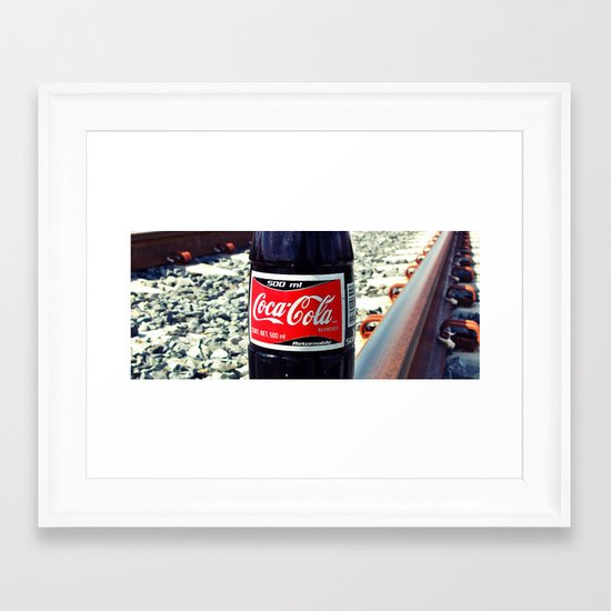 Railway Cola Framed Art Print