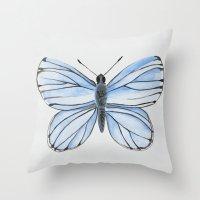Spring Azure Throw Pillow