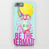 Golden.  A Happy Mermaid iPhone 6 Slim Case